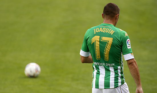 Forever Green present in the back of Real Betis Balompie's shirt.